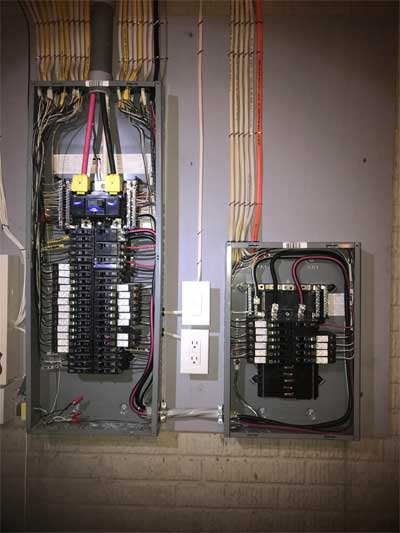 New construction inspection for electrical work