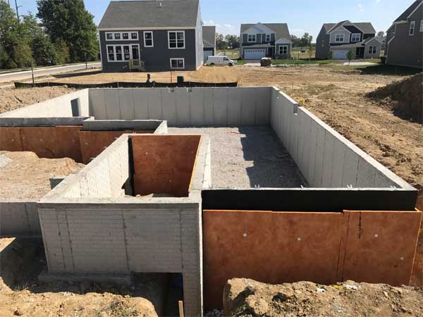 New construction inspection for foundations