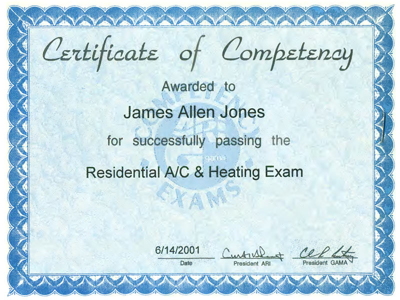 James jones professional home inspector in columbus ohio hvac excellence certification sciox Image collections
