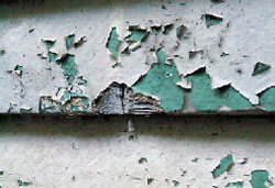 Example lead paint peeling