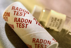 Example radon test